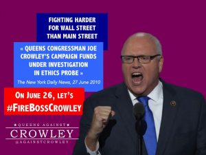 Boss of the Queens Machine, Joe Crowley, fights for Wall Street, not Main Street