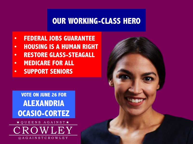 Ocasio Working Class Hero